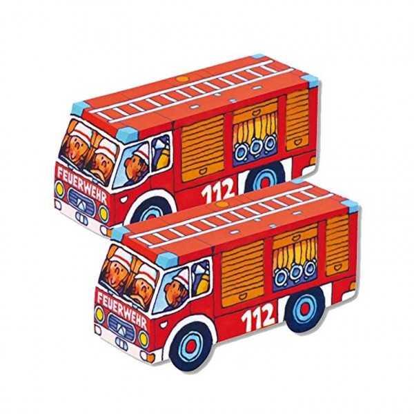 Faltspiel Feuerwehrauto, 8 Stk