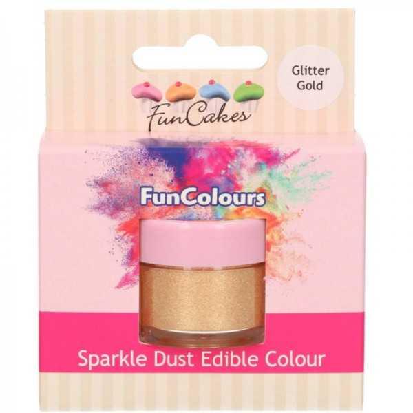 Funcakes Glitzerstaub Gold