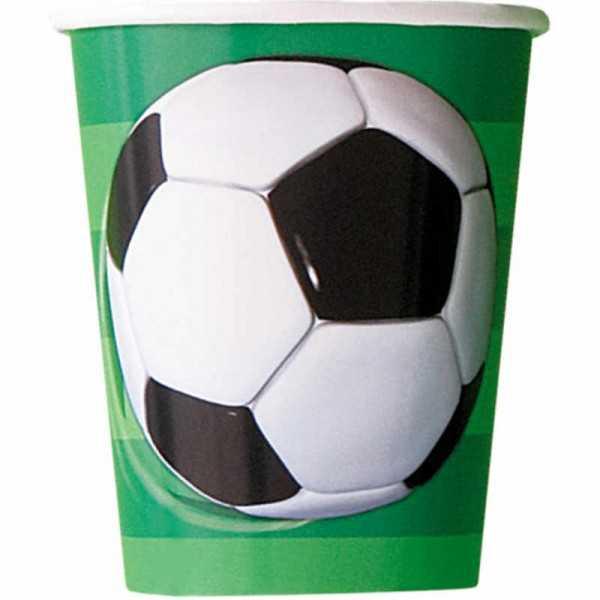 Becher Fussball, 8 Stk.