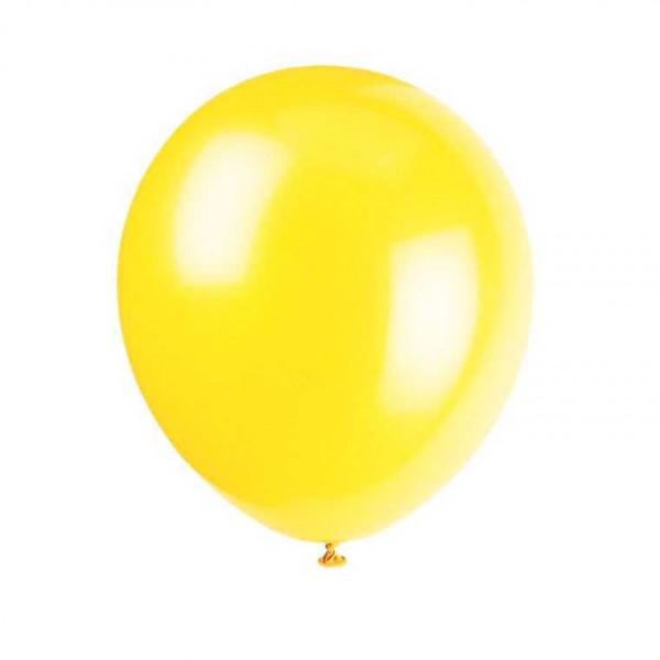 Luftballons gelb, 8 Stk.