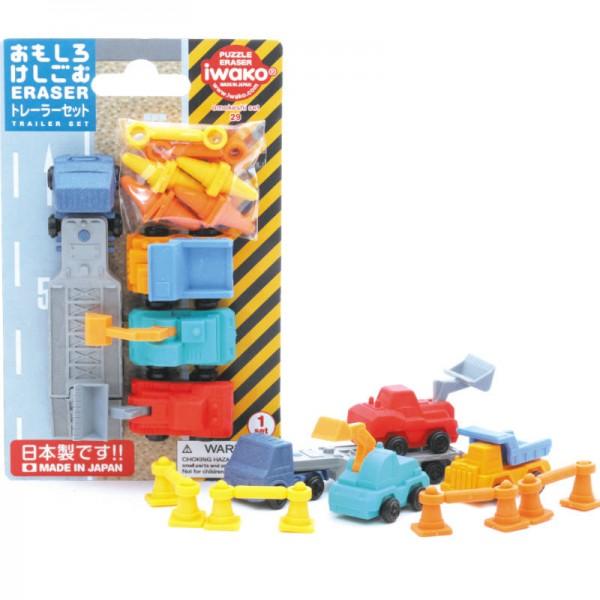 Radiergummi-Set Baufahrzeuge