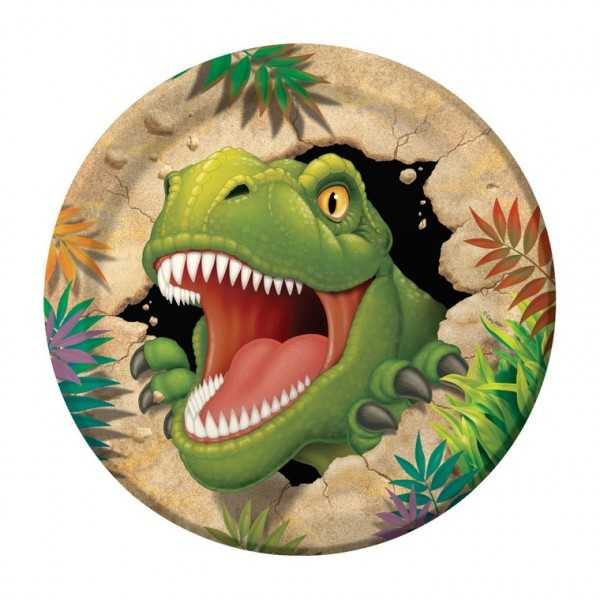Teller Dinosaurier Alarm, 8 Stk
