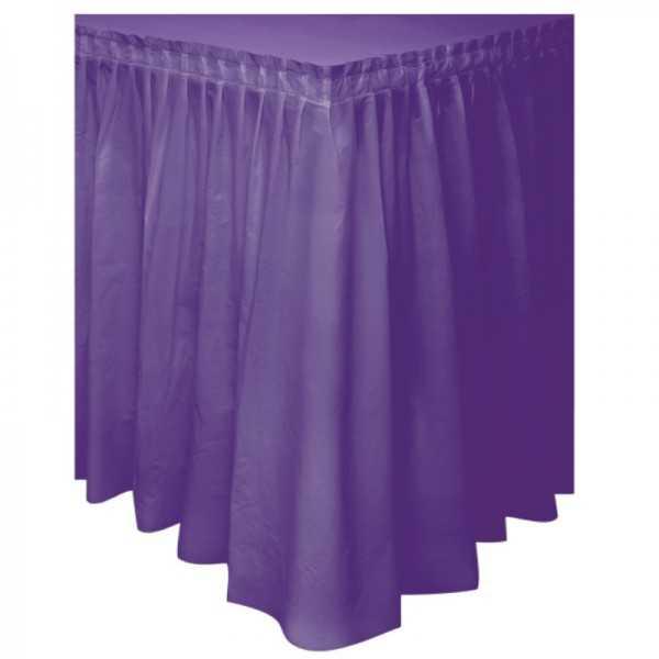 Tisch Skirting violett