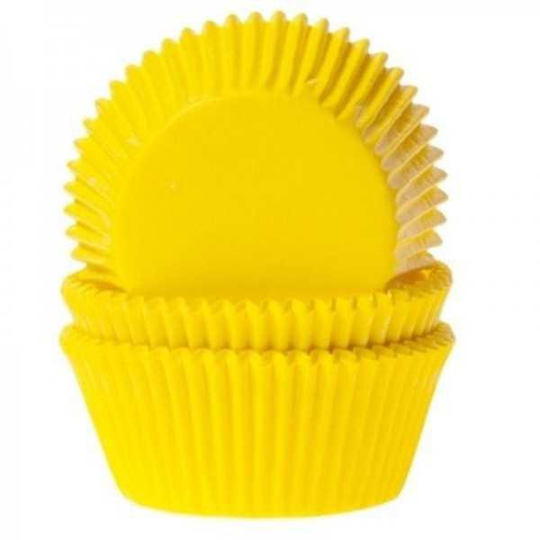 Muffinfömchen gelb, 50 Stk