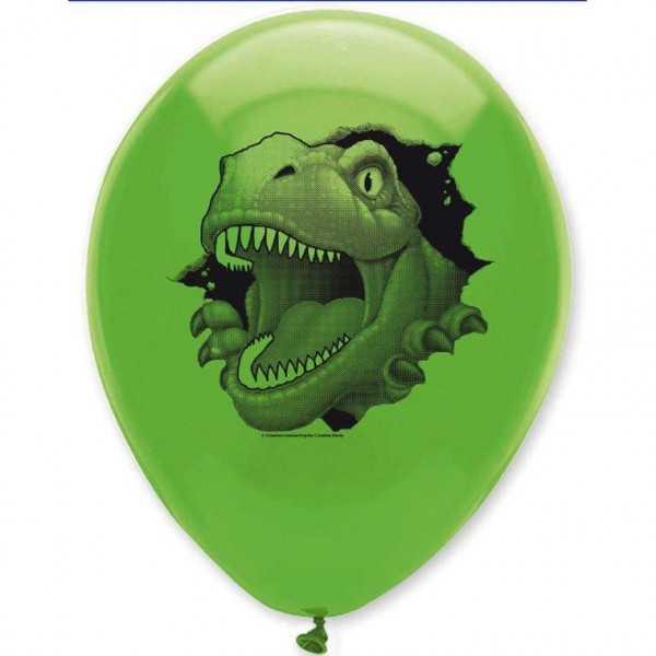 Luftballons Dino Alarm, 6 Stk