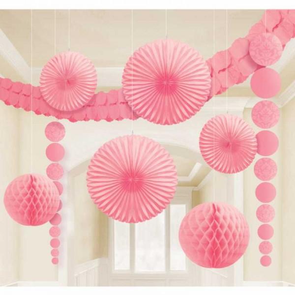Partyraum-Dekoset rosa, 9 tlg.
