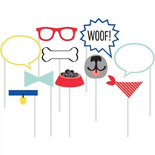Photobooth Hunde Party, 10-teilig