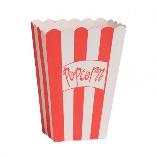 Popcornboxen rot-weiss gestreift, 8 Stk