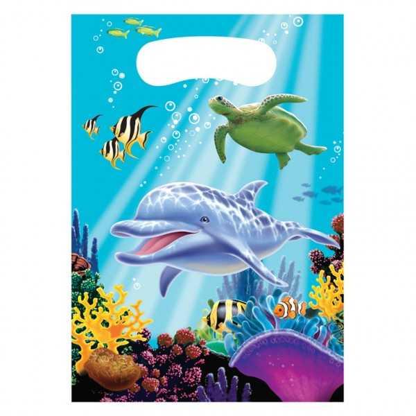 Partytüten Delfin, 8 Stk