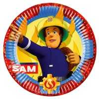 Teller Feuerwehrmann Sam, 23 cm, 8 Stk.