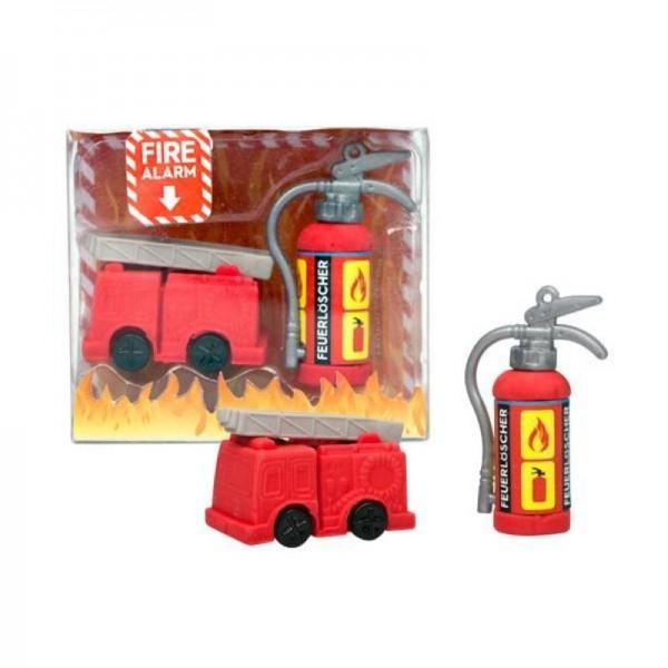 Radierer-Set Feuerwehralarm