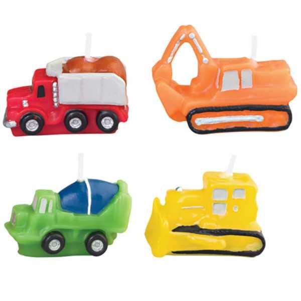 Geburtstagskerzenset Fahrzeuge, 4-tlg