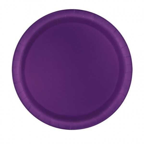 Teller violett